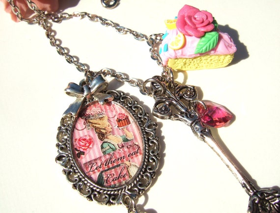 Marie Antoinette Necklace Let them Eat Cake Marie Antoinette Jewelry Marie Antoinette Jewellery UK