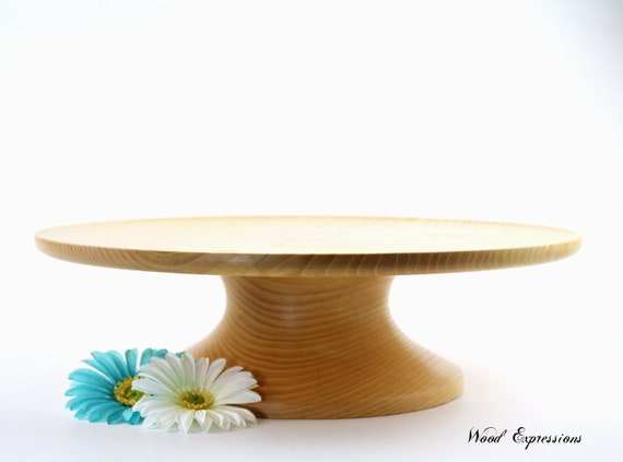 Large Wedding  Cake Stand / Solid Wood Pedestal Cake Stand / Dessert Plate