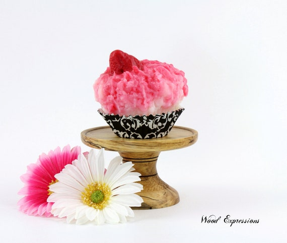Wooden Cupcake Stand /Pedestal Stand/Candle Holder