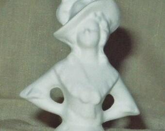 Ceramic Bisque Half Doll U-Paint  Courtney