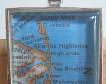New Jersey Map Pendant