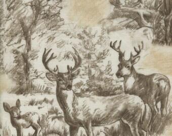 Forest Lodge Sketch - Timeless Treasures - Half Yard Plus