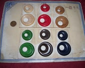 Retro wooden buttons