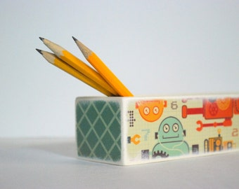 Robot Pencil Case - Pencil Box