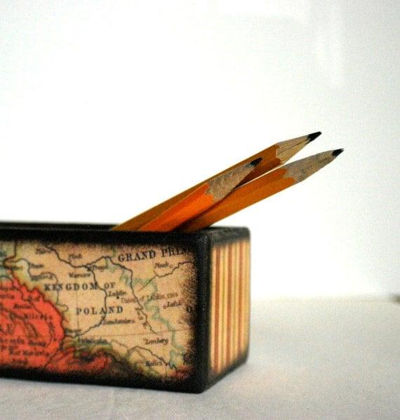 World Map Pencil Box