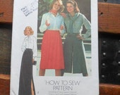 1970s Simplicity Sewing Pattern for Skirts, Culottes