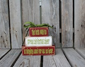 Christmas Decor BlocksThe best way to spread Christmas Cheer Wood Block Set Seasonal Home Decor Gift