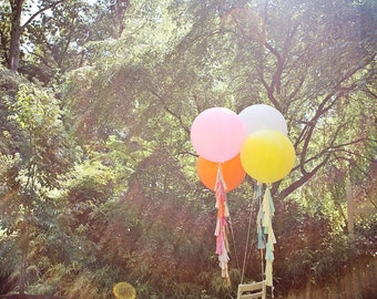 Balloon Tassels (Set of 6): Hot Pink
