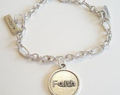 Silver Plated Religious Charms Dangles Faith Inspire Peace Bracelet