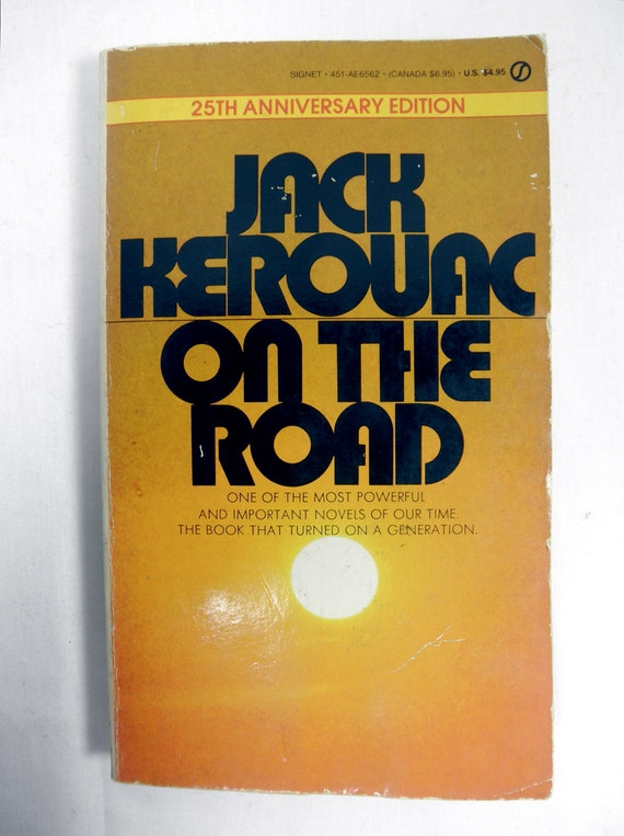 Jack Kerouac ON THE ROAD Paperback Fiction Pocketbook - 25th Anniversary Edition