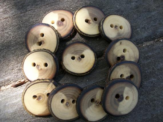 12 Walnut Buttons. 1 Inch Wide