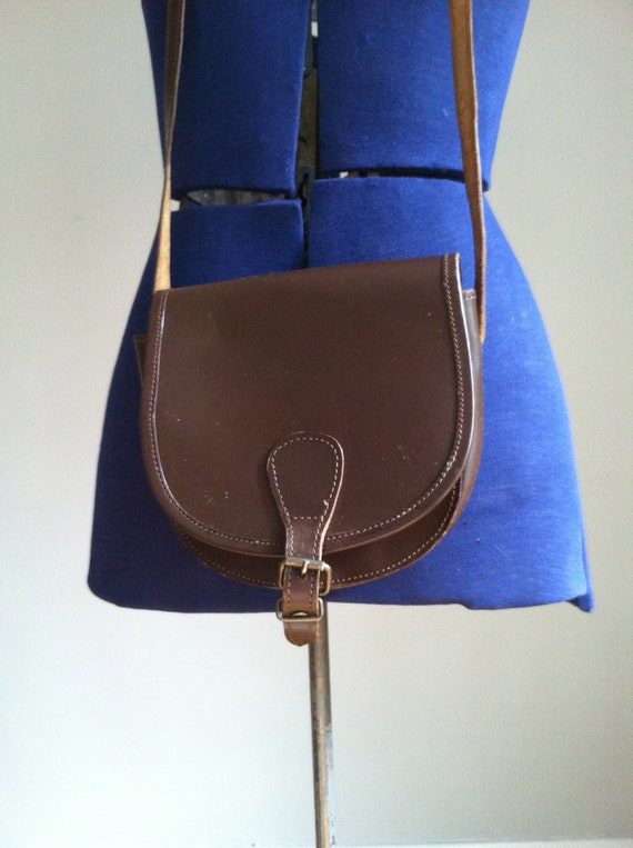 sale 1980's LEATHER SADDLEBAG. contempo casuals.hot