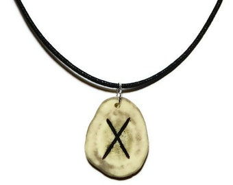 Gebo Bone Rune Necklace