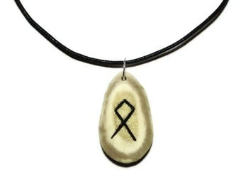 Othala Bone Rune Necklace