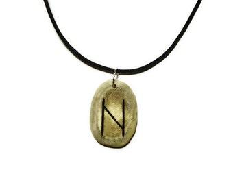 Hagalaz Bone Rune Necklace