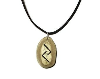 Jera Bone Rune Necklace