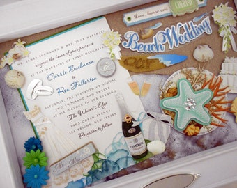 THE WATERS EDGE Wedding Invitation Keepsake Box with Engraved Name Plate