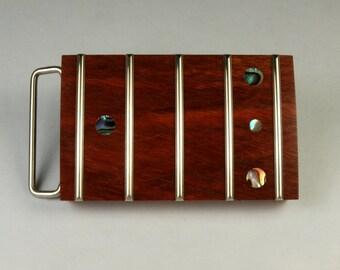 Guitar Fretboard Bloodwood Belt Buckle
