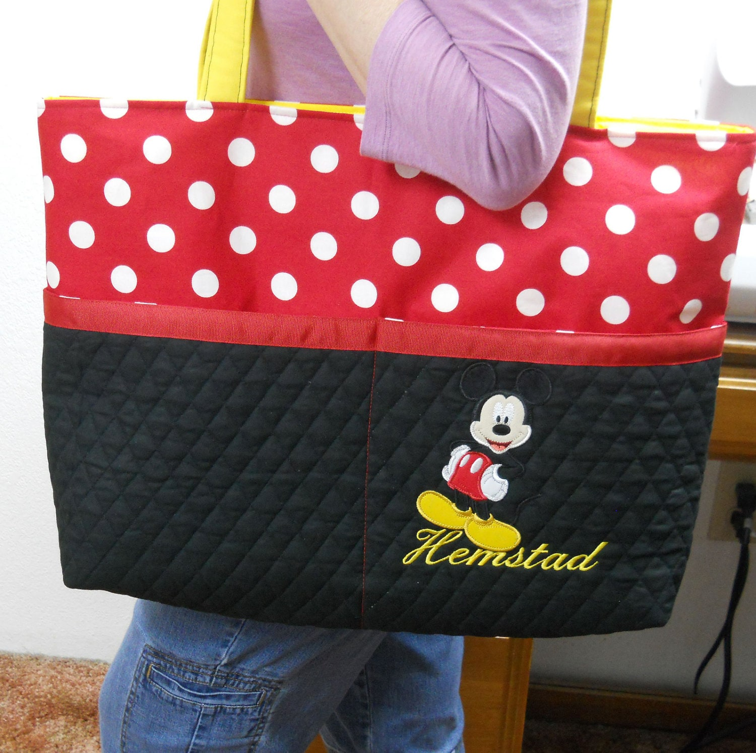 Items similar to mickey mouse & disney tote bags on Etsy