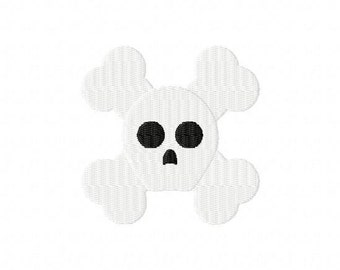 Skull and Crossbones MINI Embroidery Design Jolly Roger INSTANT DOWNLOAD
