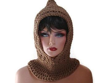 Brown Scarf, Men Scarf, Fishermans Hood, Fisherman, Women Scarf, Tan, Brown Hood, Brown, Winter Accessories, Hood, Winter Fashion, Cowl
