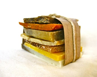 Organic Handcrafted SOAP BUNDLE  - Organic Soap Ends, Handcrafted Soap,  Soap Sampler