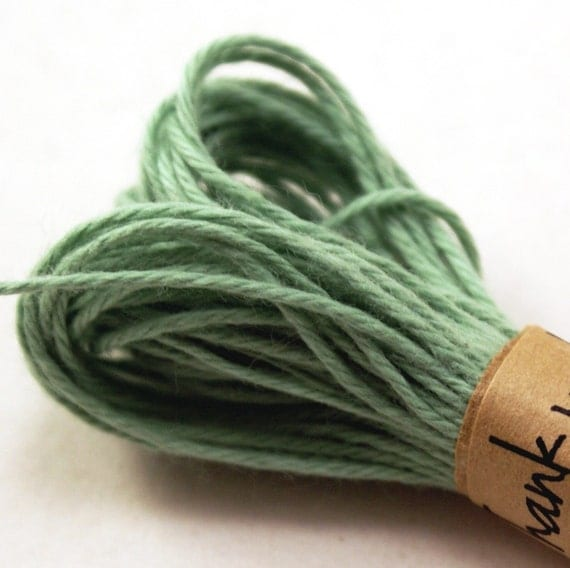 Bakers Twine String - 20 Yards of SOLID colored SEAFOAM GREEN - for crafting, gift wrapping, packaging