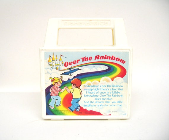 Vintage Fisher Price Music Box Radio - Over The Rainbow