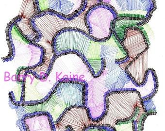 Abstract Line art 673C print