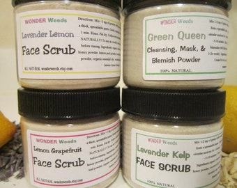 4 Pack, Choose Your Own, ALL NATURAL Face Scrub