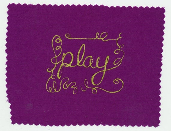 Play: Screenprinted Patch