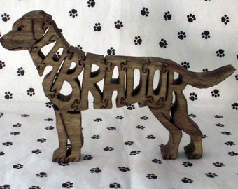 Labrador Retriever Handmade Fretwork Jigsaw Puzzle
