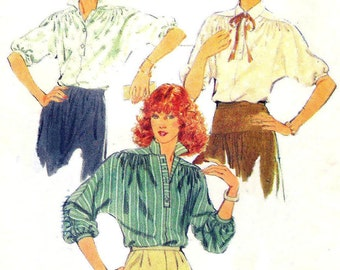 poet shirt pattern - Style 2608 - 70s poets blouse - poet sleeve - pattern -  size 16 - 38 bust
