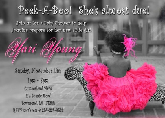 Baby Shower Invitation Digital File Tutu And Leopard Or