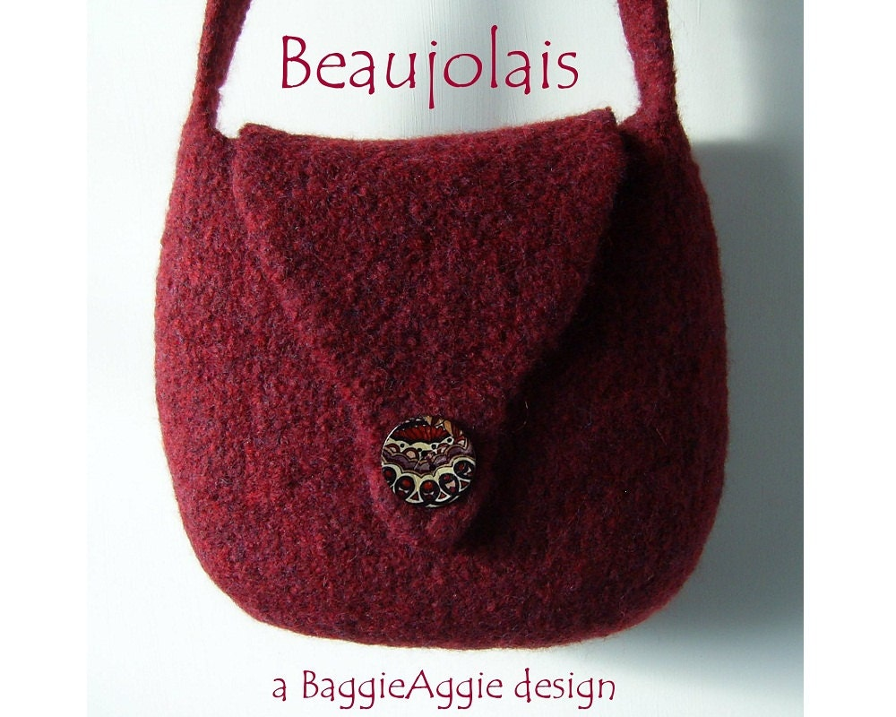 Felted Bag Pattern Download Felted Purse Pattern By