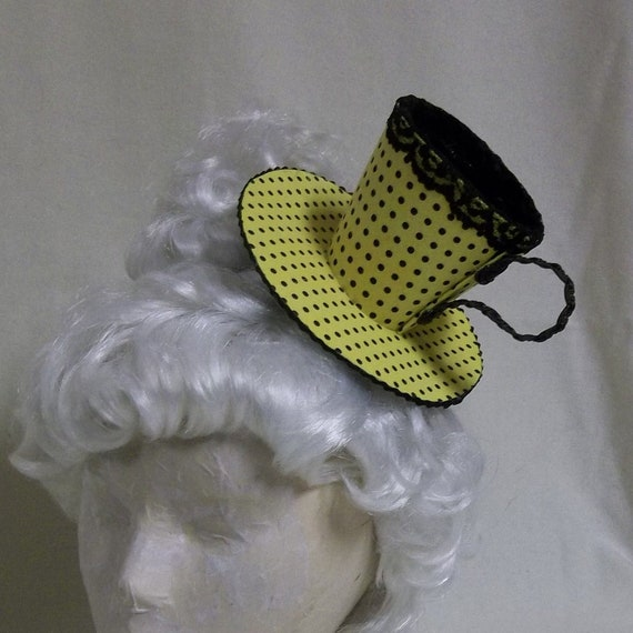 Teacup Fascinator- Yellow and Black