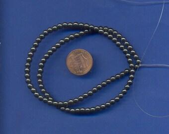 16 Inch Strand of Hematite 4mm Beads