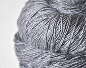 Blue steel OOAK - Tussah Silk Yarn Fingering weight