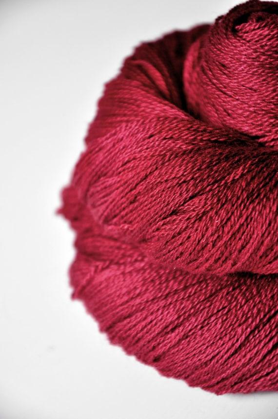 Poisoned blood OOAK - Silk/Merino Yarn Lace weight