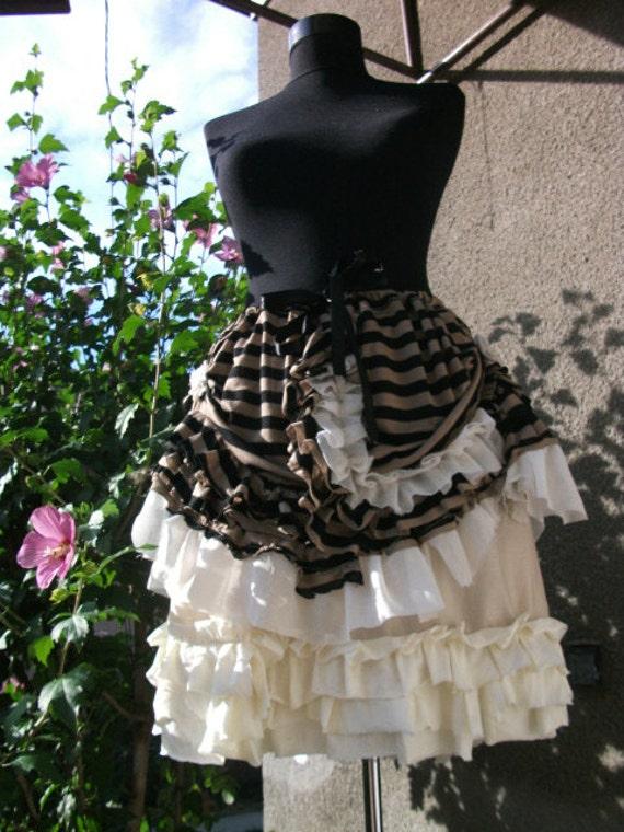 skirt, steampunk, steampunk skirt, victorian, stripes, lace, petticoat skirt, tribal, fusion,alice in wonderland, vampire, women, fashion,