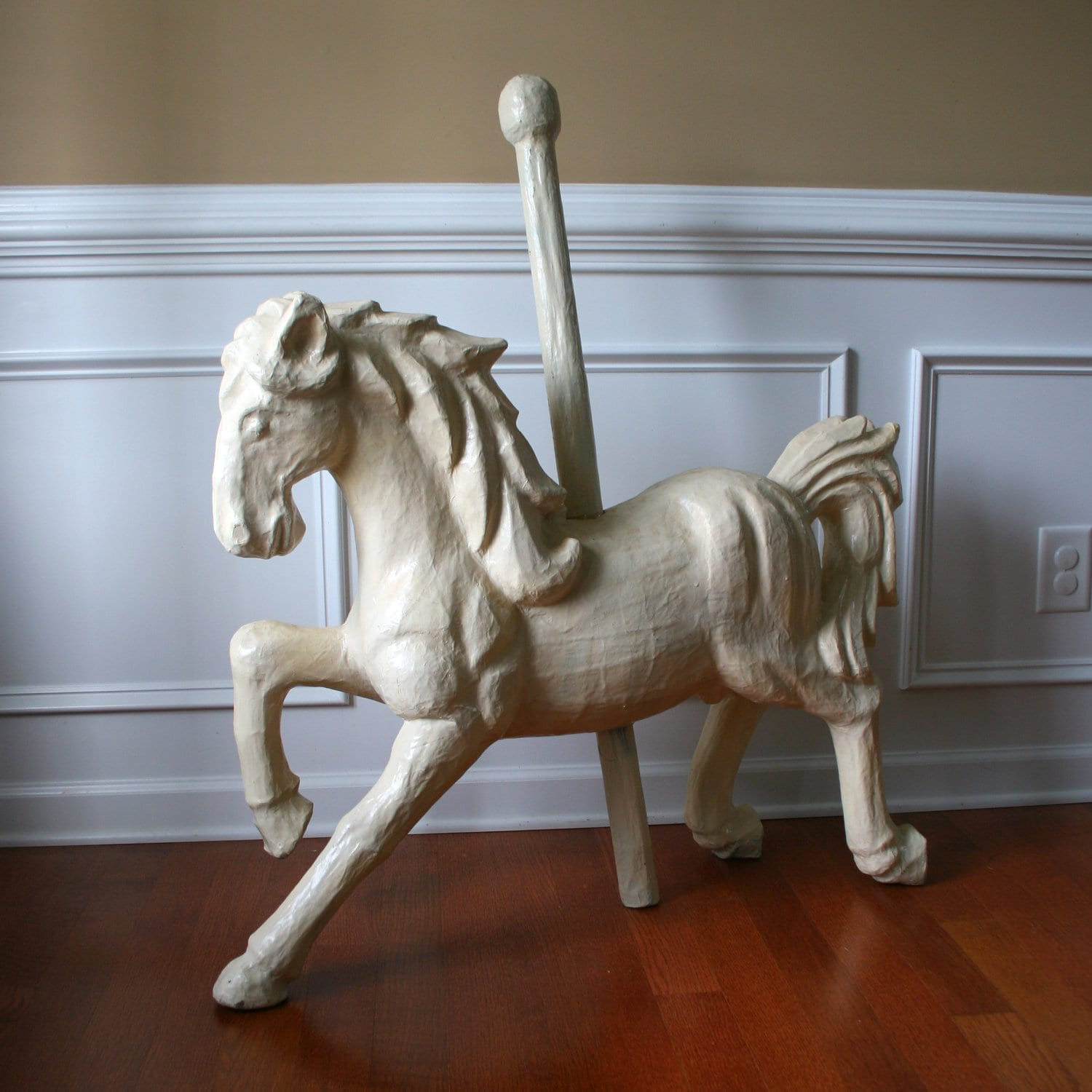 Paper mache carousel horse unique home decor art by for Unusual home accessories