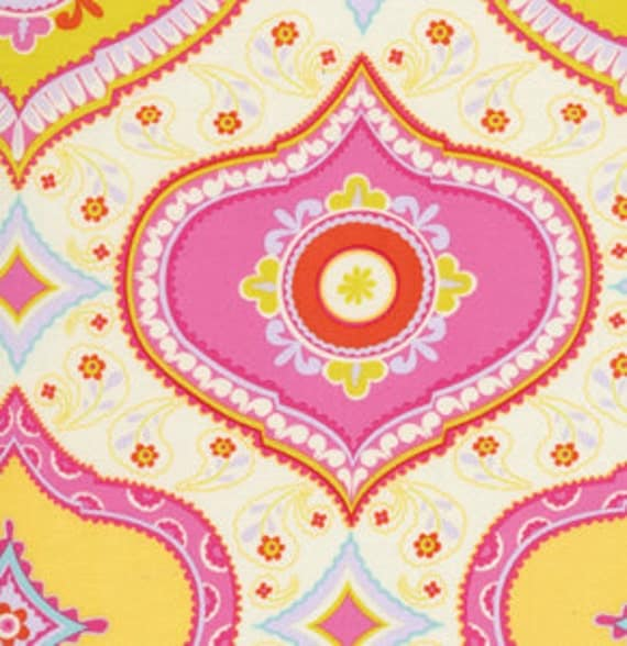 Kumari garden df91 pink chandra in pink by dena by for Kumari garden fabric by dena designs