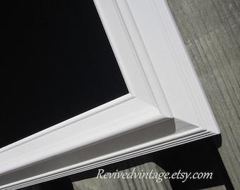 "KITCHEN CHALKBOARD MODERN Home Chalk board 29""x25"" White Framed Chalkboard Magnetic Modern Home Decor White Framed Chalk board"