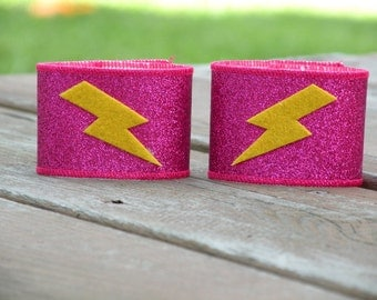 NEW Childrens Superhero SPARKLE Wrist Cuffs