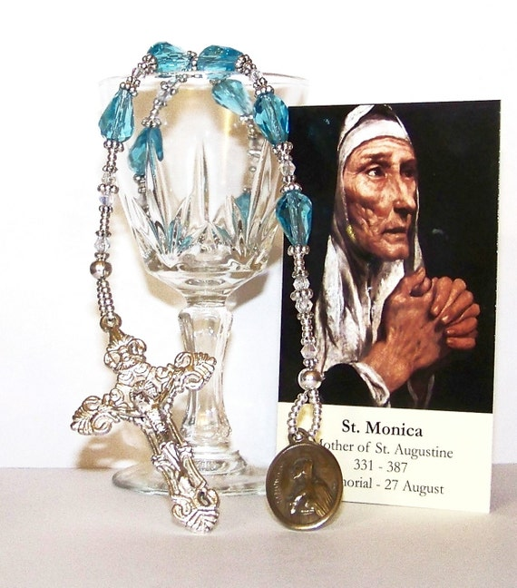 "St. Monica's Tears ""Niner"" Chaplet - Patron Saint of Mothers, Widows, Headstrong Children, Difficult Marriages, Alcoholics and Abuse Victims"