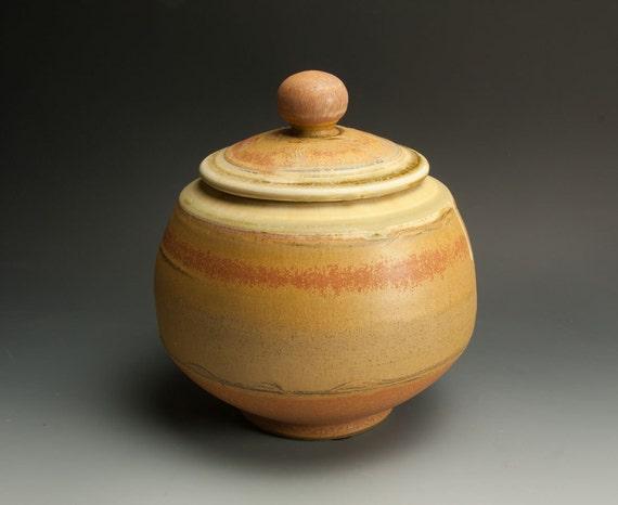 Sale - Handcrafted white stoneware cookie, storage jar 654
