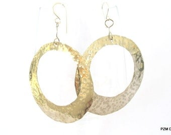 Large silver hoops, non tarnish silver tone earrings, modern metal jewelry, gift under 50