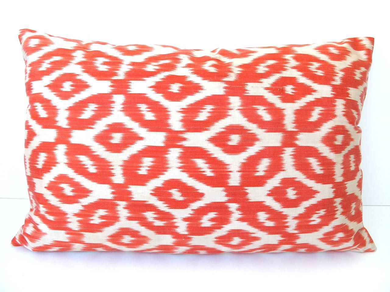 Ikat Throw Pillow Covers : Ikat Throw Pillow Cover Handwoven IKAT SILK by DivanCushu on Etsy