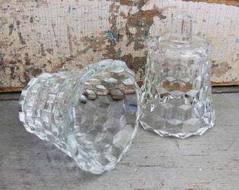 Clear Glass Votive Candle Cups Wall Sconce Vintage