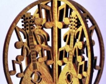 3-D Wood Mandolin Ornament